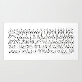 Kung Fu Diagram Art Print