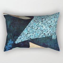 Metallic Stingray II. Nature abstract art. Vintage illustration. Rectangular Pillow