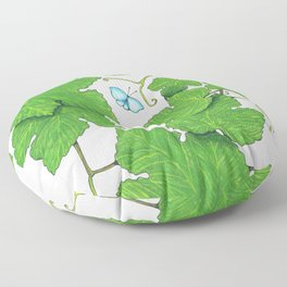Grape Leaves Floor Pillow