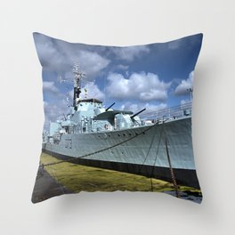 HMS Cavalier Throw Pillow