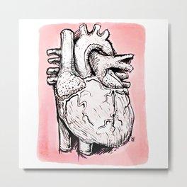 Inked Heart Metal Print