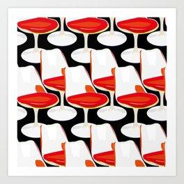 Pop Modern Colour Electric Chair Art Art Print