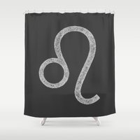 leo Shower Curtains featuring Leo by David Zydd
