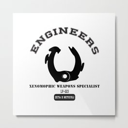 Prometheus Engineers Xenomorph University Metal Print