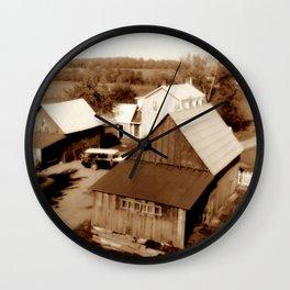 Morning at The Farm Wall Clock