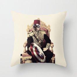 "Steve Rogers Pasha ""Egyptian Khedive "" Throw Pillow"
