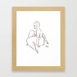 WOMAN 55 Framed Art Print