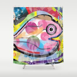 Fish Panting for a Drink with Hemingway in Havana Shower Curtain