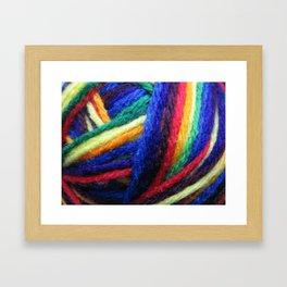 Yarn Framed Art Print