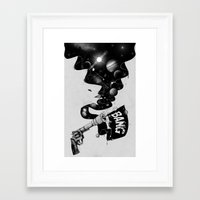big bang Framed Art Prints featuring Big Bang by Made With Awesome