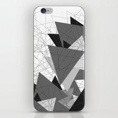 Triangle Grey iPhone Skin