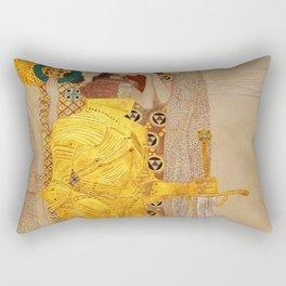 The Golden Knight - Gustav Klimt Rectangular Pillow