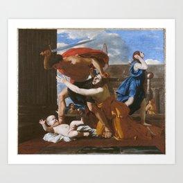Nicolas Poussin - Massacre of the Innocents Art Print