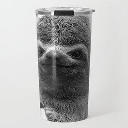 Footballer Sloth playing for Brazil Travel Mug