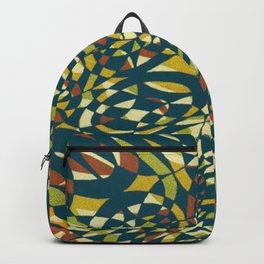 Tropical Color in blue 1950 Backpack