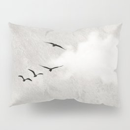 minimal collage /silence Pillow Sham