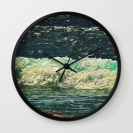 Ocean Close Up Wall Clock
