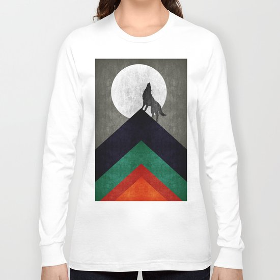 Wolf on top Long Sleeve T-shirt