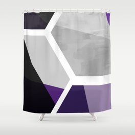 Purple Black and Gray - Geometric Composition  Shower Curtain