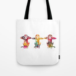 Three wise monkeys Tote Bag