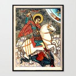 Saint George Killing the Dragon Canvas Print