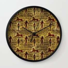 Egyptian Decorative hieroglyphics Pattern Wall Clock