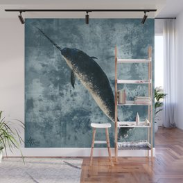 """""""Jackson the Narwhal"""" by Amber Marine ~ Art (Copyright 2015) Wall Mural"""