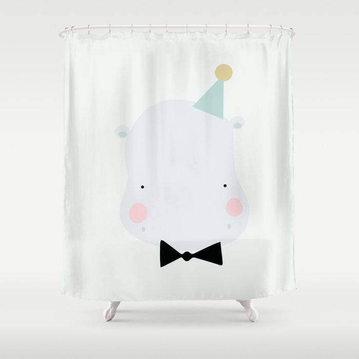 Hippo Shower Curtain By Eeflillemor
