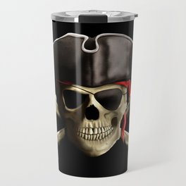 The Jolly Roger Pirate Skull Travel Mug