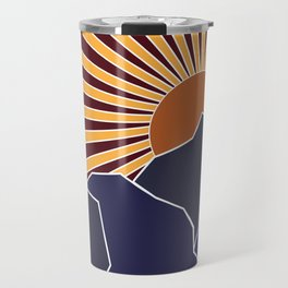Mountain in AZ Flag Colors Travel Mug