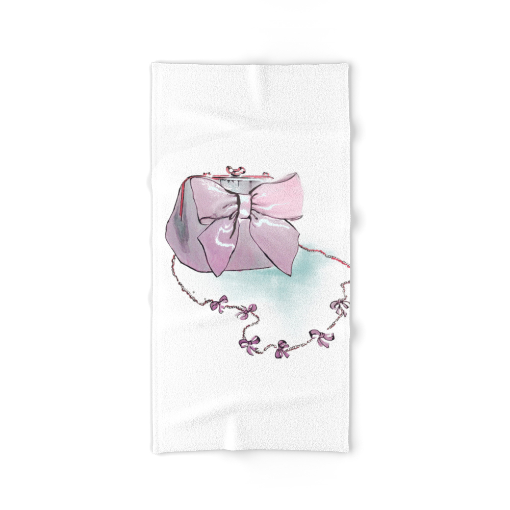 Pink Purse Bath Towel by gracefulbrush (BTL8974954) photo