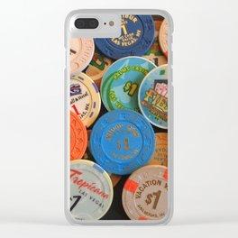 Las Vegas Casino Chips Clear iPhone Case