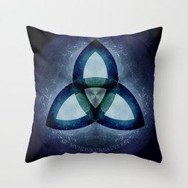 Sic Mundus Creatus Est  - Dark / Netflix Throw Pillow