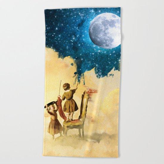 Painting Stars Beach Towel