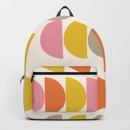Cute Geometric Shapes Pattern in Pink Orange and Yellow Backpack
