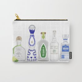 Tequila Bottles Illustration Carry-All Pouch