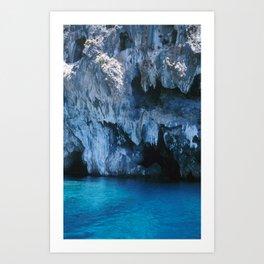 NATURE'S WONDER #3 - BLUE GROTTO #art #society6 Art Print