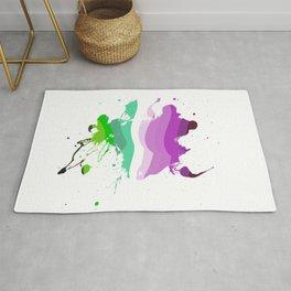 Colorful ink Rug