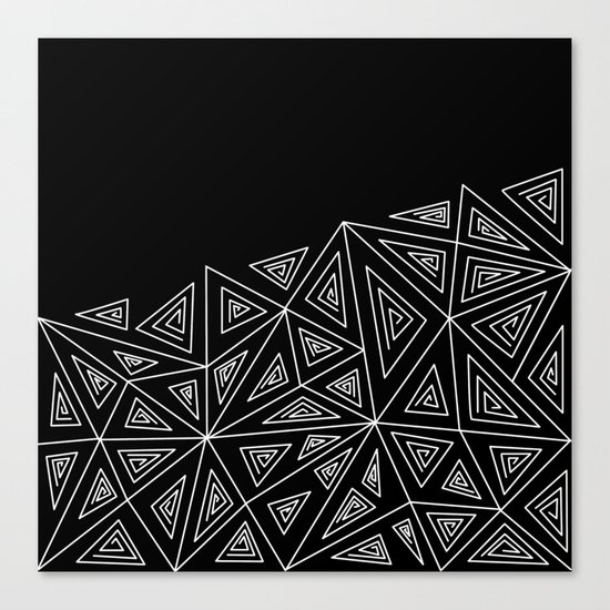 Abstract black and white pattern.Triangles 2 . Canvas Print