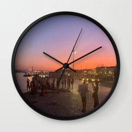 Living Vicariously on a Portuguese Beach Wall Clock