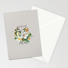 Love Me & Mend - Much Ado About Nothing, Shakespeare Quote Stationery Cards