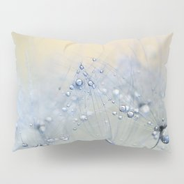 ice blue dandelion Pillow Sham