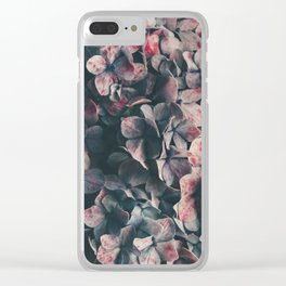 hydrangea - moody blues Clear iPhone Case