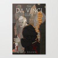 da vinci Canvas Prints featuring Da Vinci Code by Meen Choi