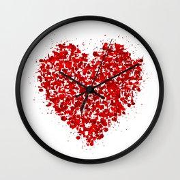 big heart 01 Wall Clock
