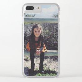 Desert Rose Clear iPhone Case