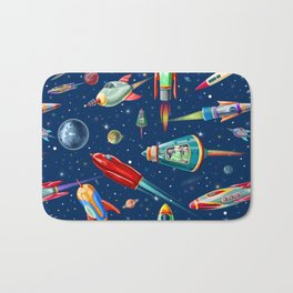 rockets in traffic Bath Mat