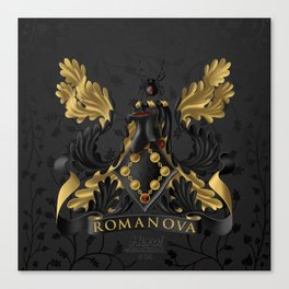 Black Widow Coat of Arms Canvas Print