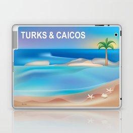 Turks and Caicos - Skyline Illustration by Loose Petals Laptop & iPad Skin