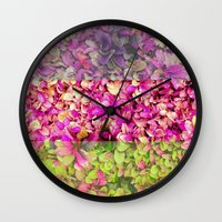 psychadelic Wall Clocks featuring Psychadelic Succulents by Hithere22